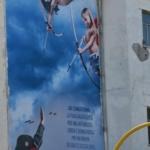 8 settembre all'ottavo municipio, manifestazione e murales antifascista a spese del municipio