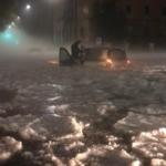 Bomba d'acqua sulla capitale, strade come fiumi