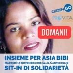 Per Asia Bibi, in piazza in Campidoglio