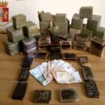 Polizia sequestra 20 kg di hashish