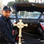 Ritrovato crocefisso rubato  ala comunità di San Clemente