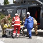 Loreto, Areonautica e Protezione civile simulano evacuazione di una scuola