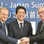 Vertice Unione Europea-Giappone: sì al Jefta, Japan-Eu free trade agreement, e all'accordo di partenariato strategico