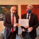 Il pittore siciliano Sergio Potenzano diventa socio onorario dell'Ordine dei Figli d'Italia in America