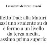 I tristi risultati dei test invalsi, davvero e' colpa della dad?