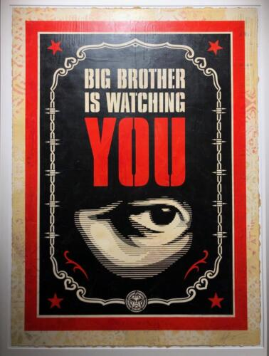 Shepard Fairey Big Brother is Wathing You
